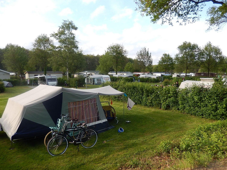 Overzichtsfoto camping 't Witte Zand met fietsen